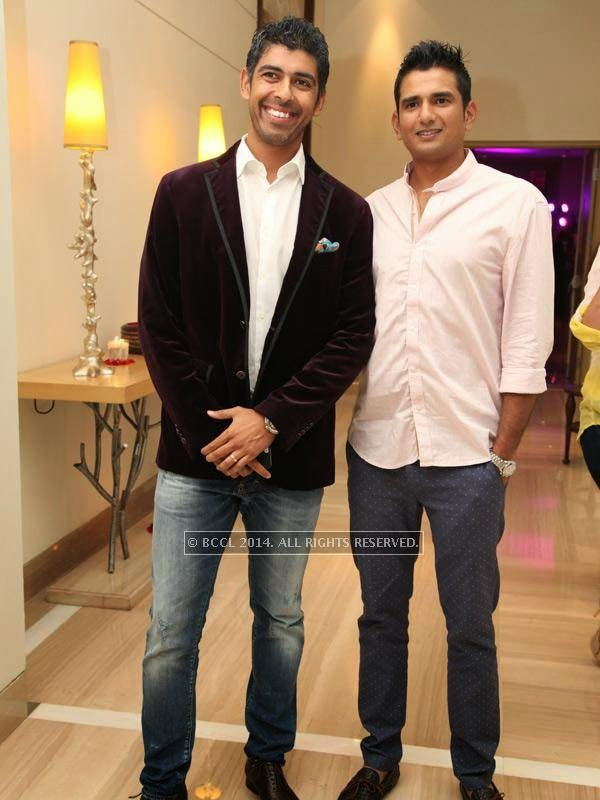Arjun and Chaitu at the RNGM golf event that was held at the Mysore Hall at the ITC Gardenia, Bangalore.