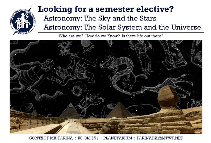 Looking for a Semester Elective?  Try out one of Manheim Townships Astronomy Classes!