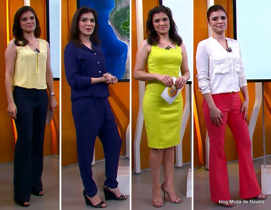 moda do programa Hora 1, looks da Eliana Marques dias 22 a 26 de dezembro