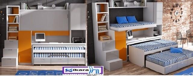 Cuales son los dormitorios juveniles que ahorran espacio for Habitaciones compactas