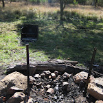 Fire pit at Little Murray camping area