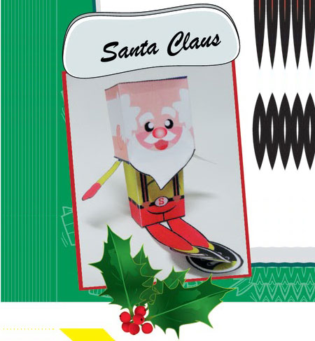 Casual Santa Claus Paper Toy