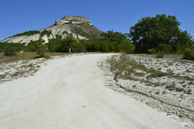 Tepe-kermen from Mashino. Kachi Valley. Bakhchisaray. Crimea