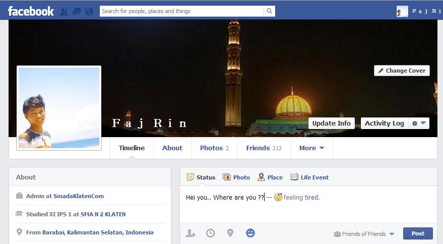 Update Status Facebook Dengan Gaya Baru