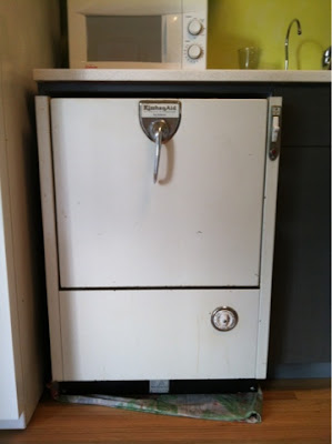 On The Verge Of Snapping A Vintage Dishwasher