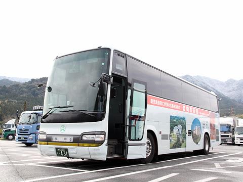 鹿児島交通観光バス「桜島号」 ・431 宮原SAにて その1