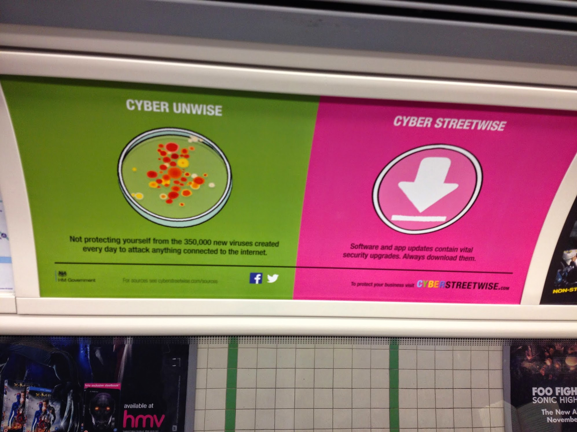Tube Ad for Cyberstreetwise campaign