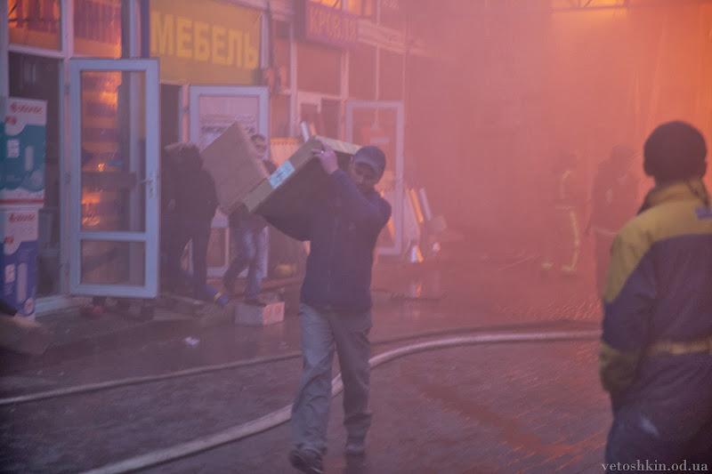 Пожар на рынке «Селянка» в Одессе