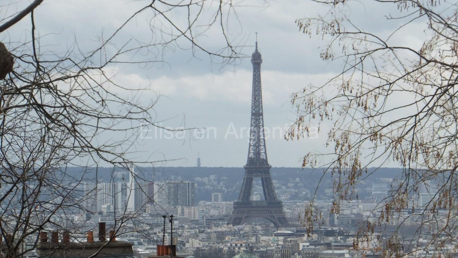 La Tour Eiffel desde Montmartre