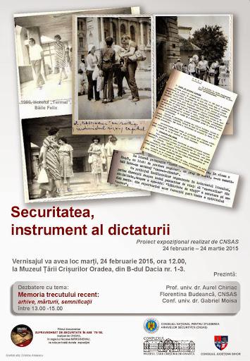 Vernisajul Securitatea, instrument al dictaturii la Muzeul Ţării Crişurilor #1