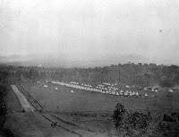 Camp of the 40th Regiment at Baird's farm, Ramarama New Zealand