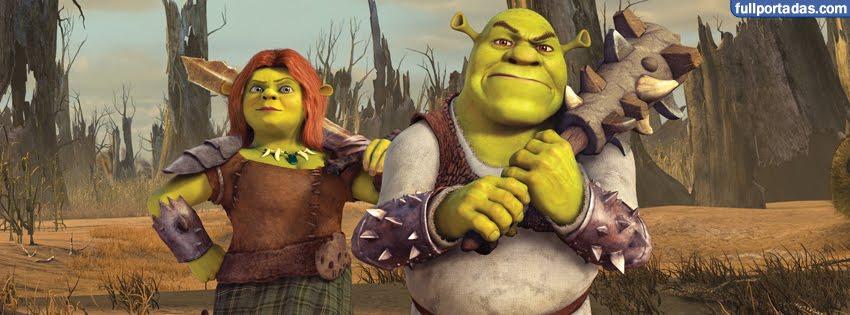 Portadas para facebook Shrek y princesa fiona