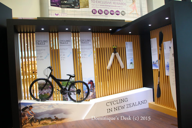 An exhibit for the Cycling trails in NZ