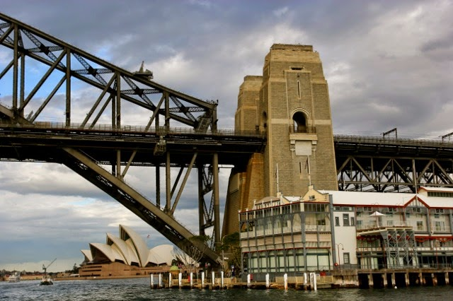 The Sydney Harbour Bridge - The part of the bridge that marks the start of the walk over the arch