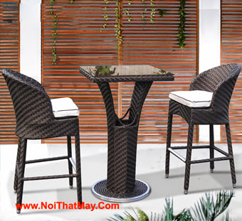 Outdoor Wicker Bar Set Minh Thy 832