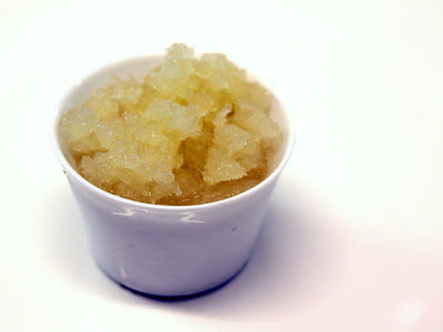 Bulmers granita with apple jelly