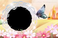 molduras-para-fotos-gratis-flores-borboleta