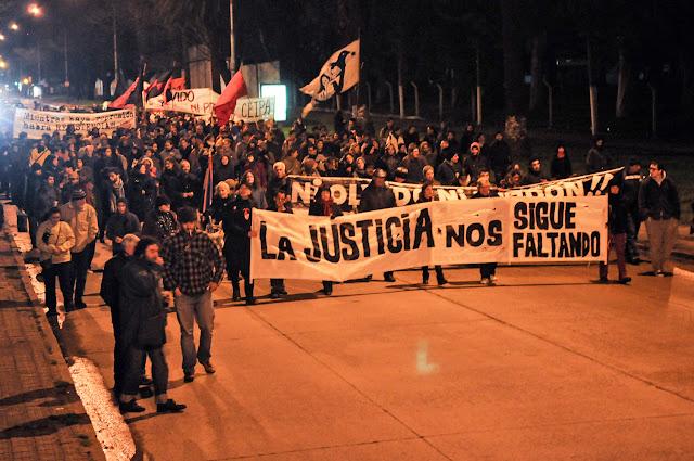 marcha de recuerdo a la Masacre del Filtro en Montevideo