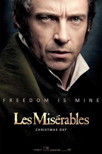 """Los Miserables, cartel con Hugh Jackman"""" width="""