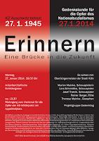 Plakat: »Gedenken für die Opfer des Nationalsozialismus. Erinnern...«.
