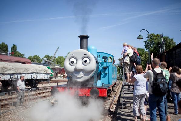 Thomas de trein in het spoorwegmuseum