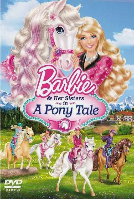 Poster Of Barbie & Her Sisters in a Pony Tale (2013) Full Movie Hindi Dubbed Free Download Watch Online At Alldownloads4u.Com