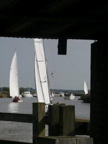Yare Navigation Race through Reedham Swingbridge