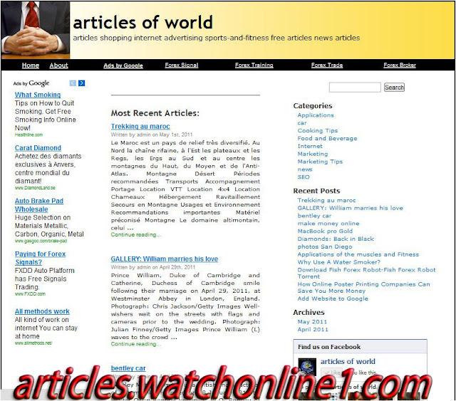 ���� ������� ������ �� ����� ���� ����� articles of world SEOAdMax WordPress Theme