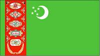 εθνική σημαία Τουρκμενιστάν,national flag of Turkmenistan.