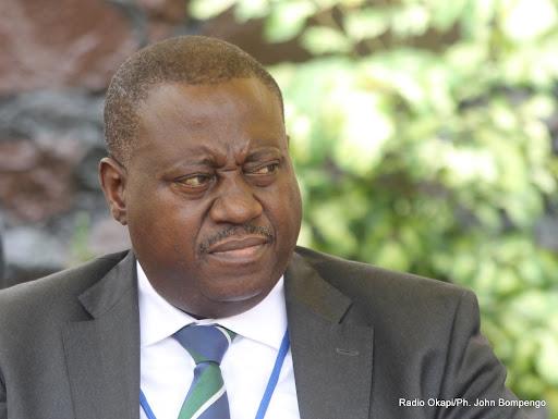 Le Ministre Muyej Mangez le 12/09/2013 à Kinshasa. Radio Okapi/Ph. John Bompengo