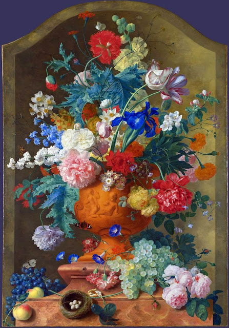 Jan van Huysum - Flowers in a Terracotta Vase