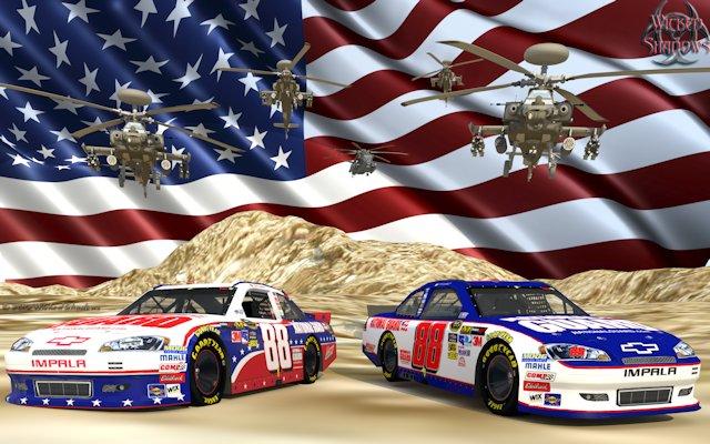 Dale Earnhardt Jr. Nascar Unites National Guard Wallpaper Ver. 2