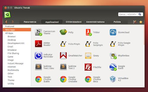 Ubuntu Tweak 0.8.2 - nuove applicazioni