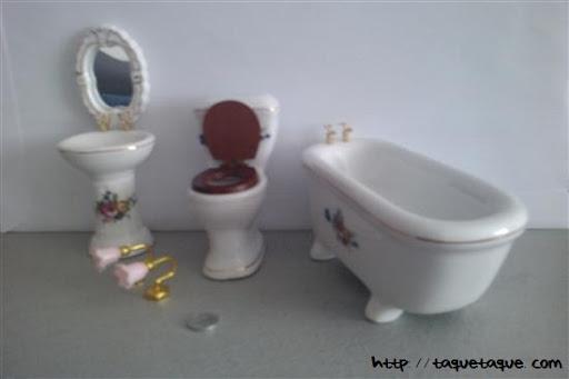 Baño para casa de muñecas 1:12