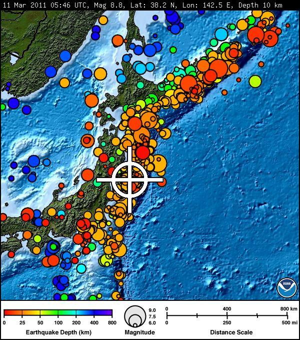 Geology In Motion Magnitude Earthquake Hits Off Coast Of - Japan map activity