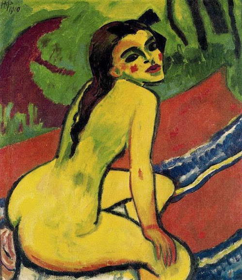 Max Pechstein - Seated Nude
