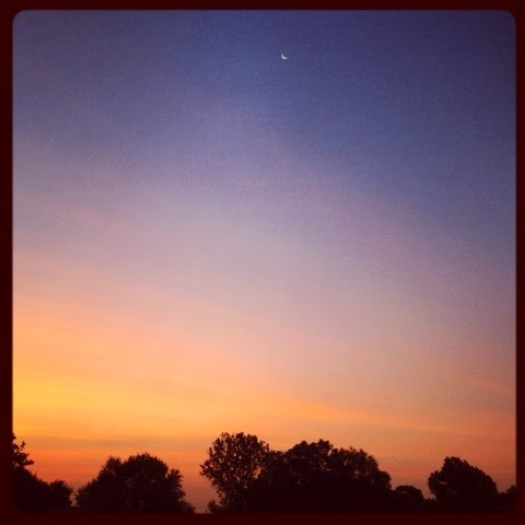 Gorgeous summer morning sunrise in Austin - www.lifeinrandombits #austin #morning #wordlesswednesday