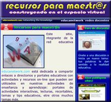 Recursos web para docentes