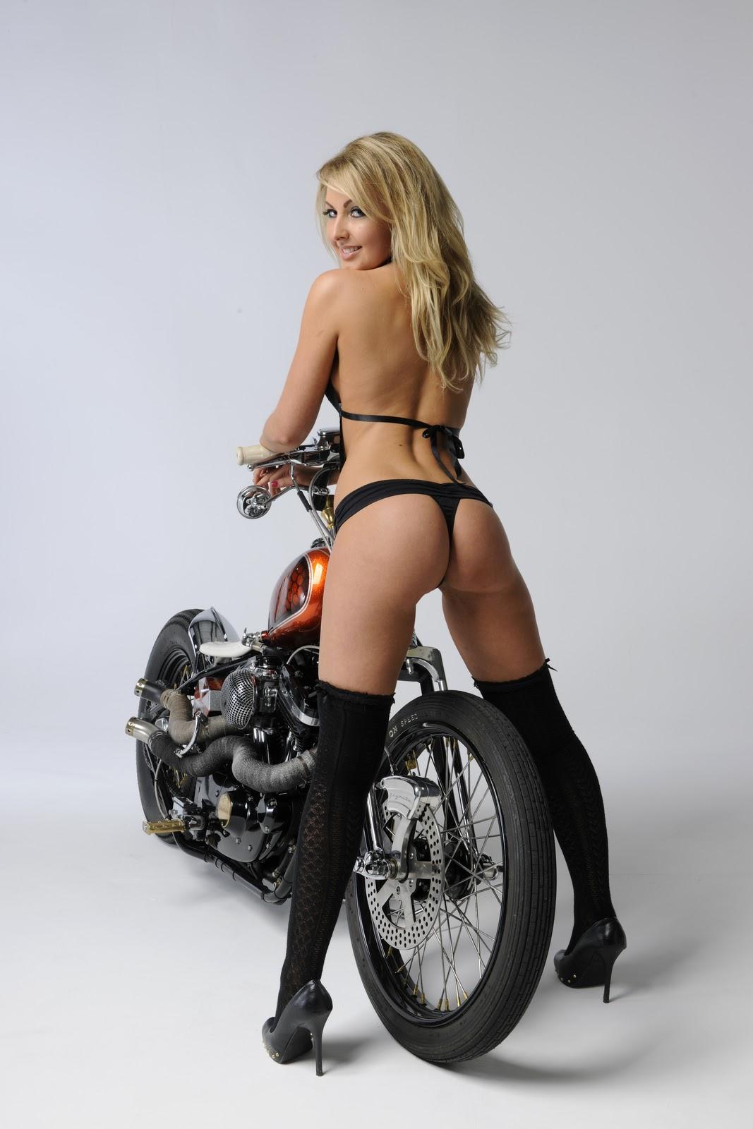 Dual Sport Motorcycle Girl
