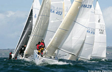J/80 one-design sailboats- sailing Coupe de France