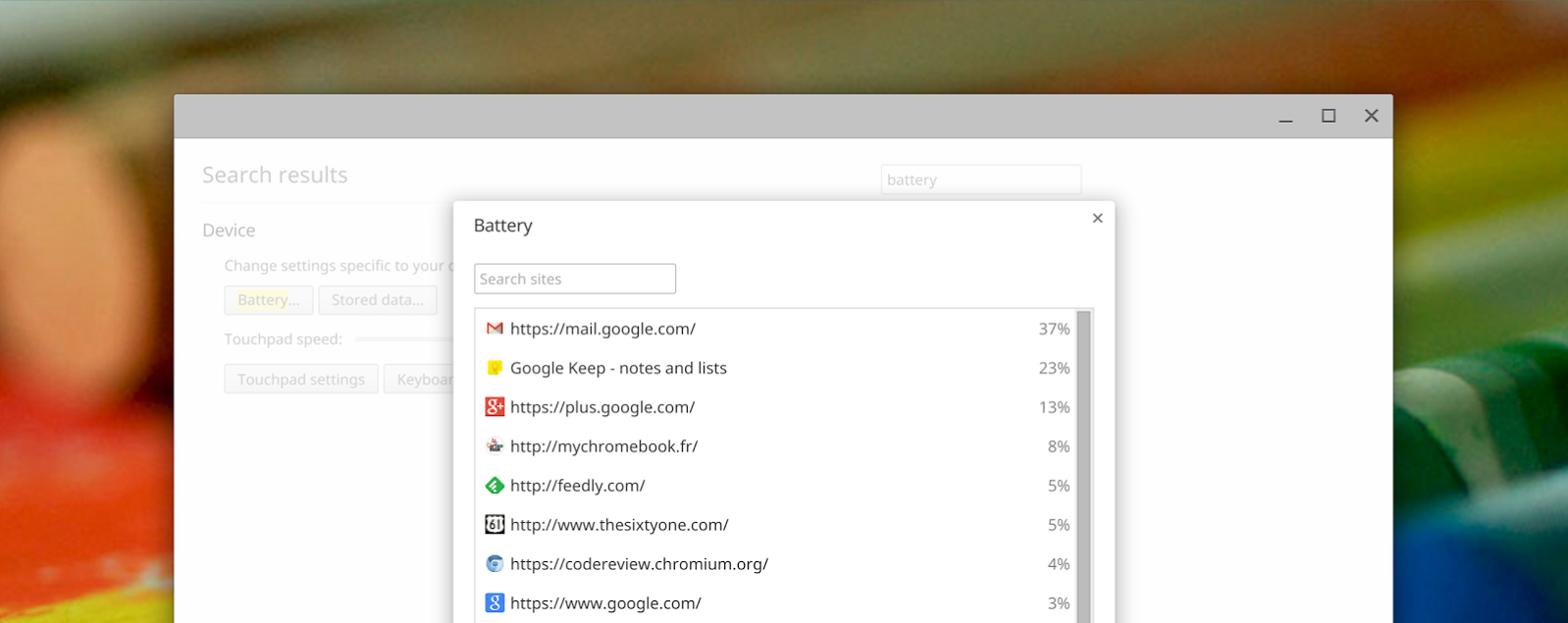 Chrome OS Battery