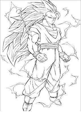 Imagenesde99 Imagenes De Goku Fase 3 Para Colorear
