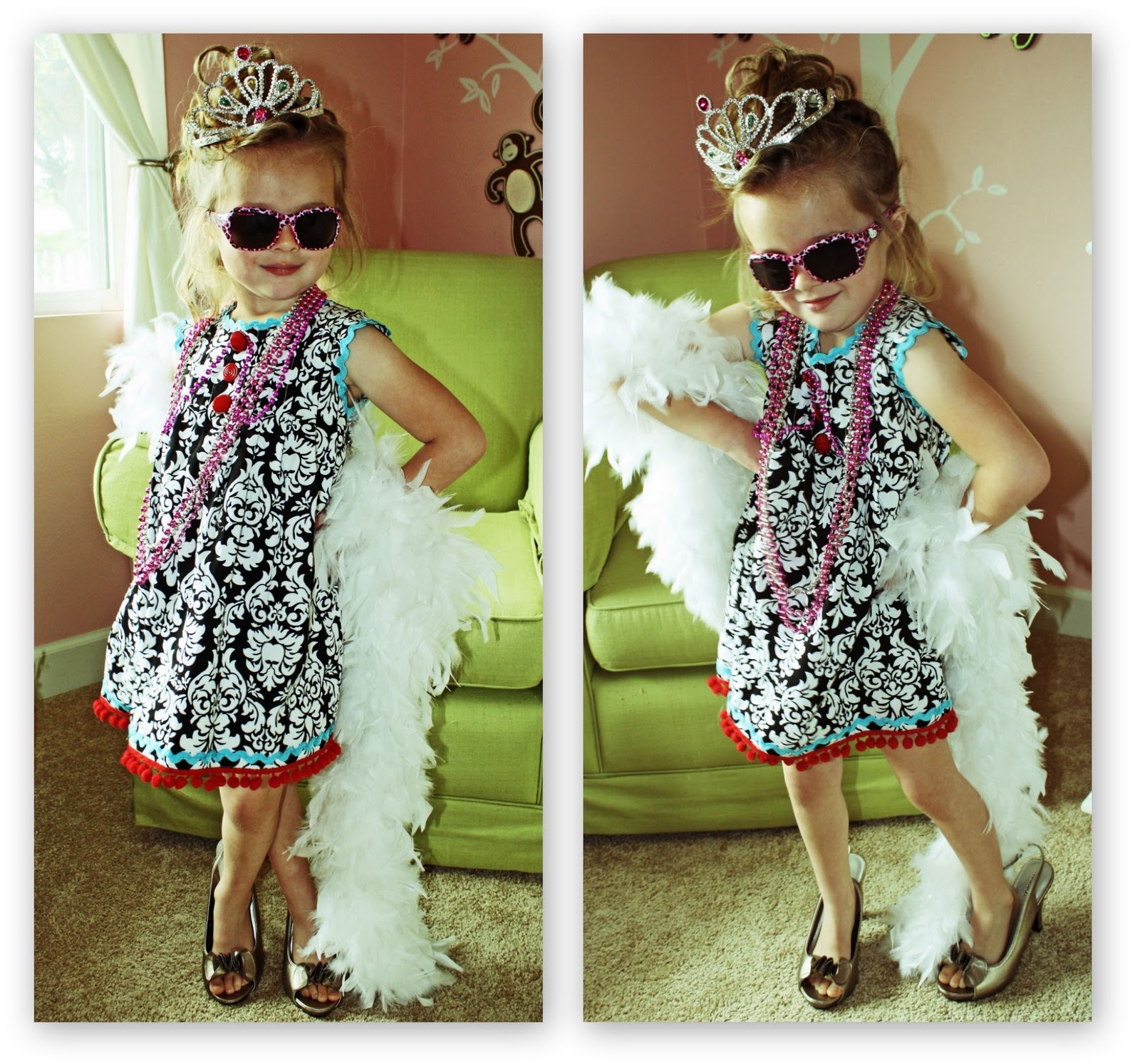 Diy fancy nancy dress icandy handmade decided to create a fancy nancy dress for her with a tutorial and giveaway for you solutioingenieria