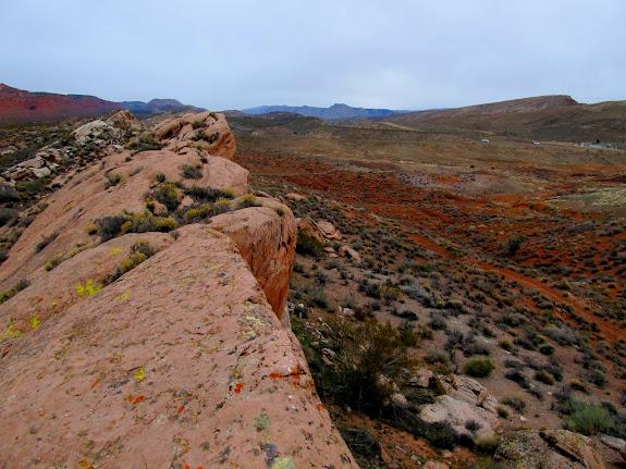 A long, low ridge below Red Reef