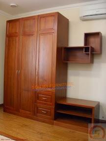 Tủ quần áo gỗ xoan đào TASM50