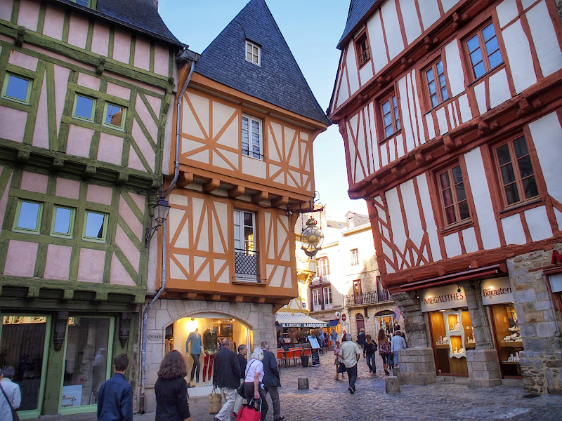The leaning half-timbered houses of Vannes