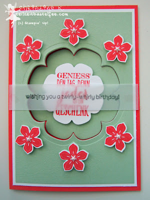 stampin up, inkspire_me #139, petite petals, floral frames, wishes your way, wimpeleien, perfect pennants
