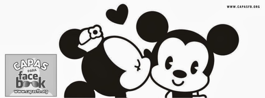 Capas para Facebook Minnie e Mickey