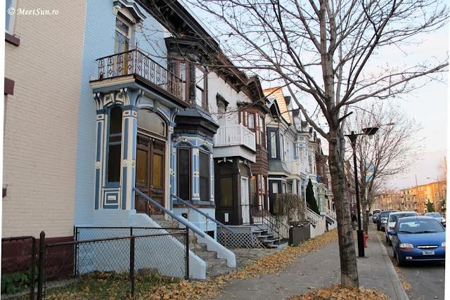 strazi si case tipice pentru Montreal