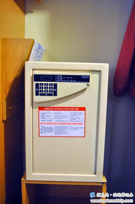 墾丁福華渡假飯店衣櫥下的保險櫃